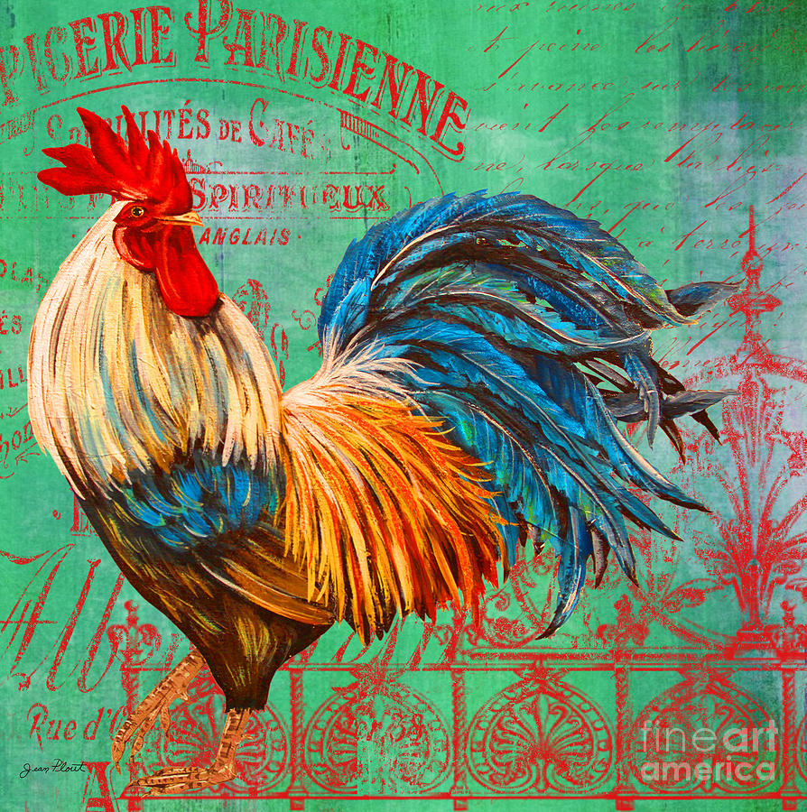 Case Design chicken phone case : Le Rooster Heaven-b is a painting by Jean Plout which was uploaded on ...
