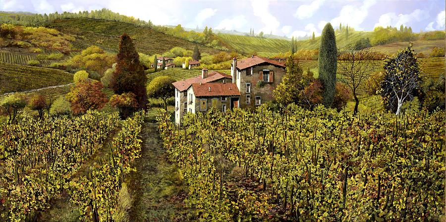 Vineyard Painting - Le Vigne Toscane by Guido Borelli