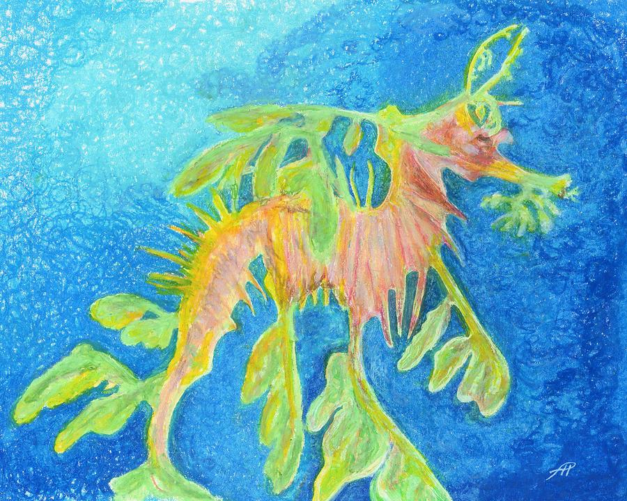 Leafy Seadragon Drawing - Leafy Seadragon by Tanya Hamell