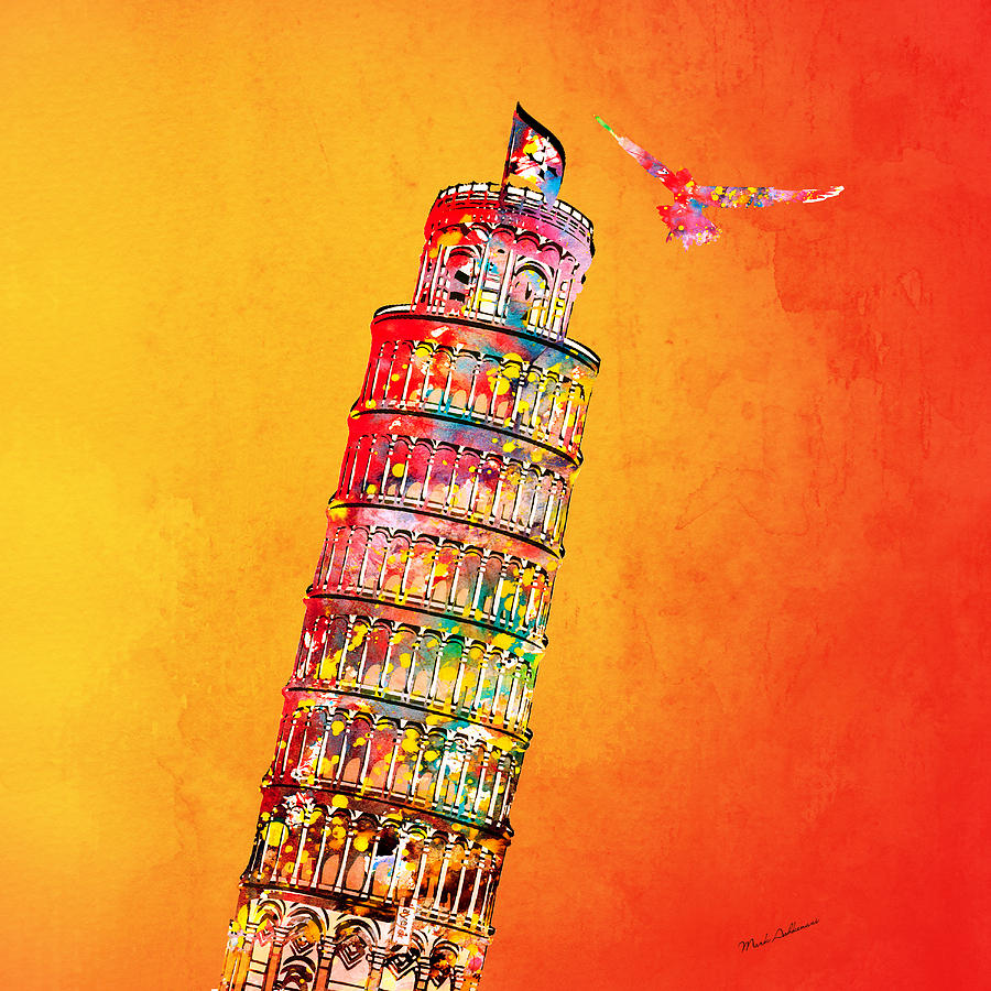 Leaning Tower Digital Art