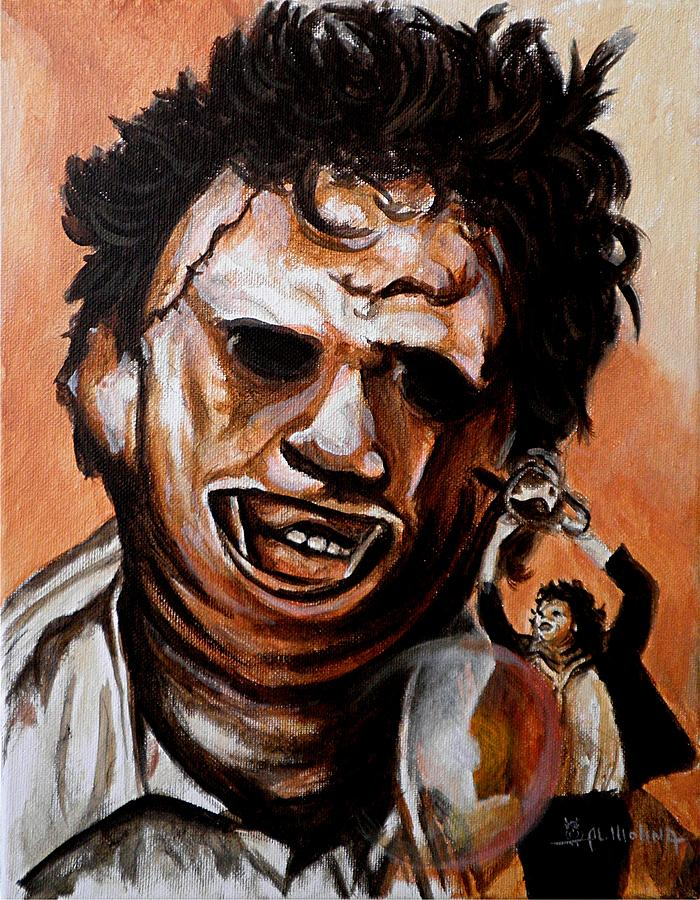 Leatherface Unleashed Painting  - Leatherface Unleashed Fine Art Print