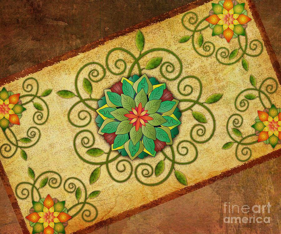 Leaves Rosette 1 Digital Art