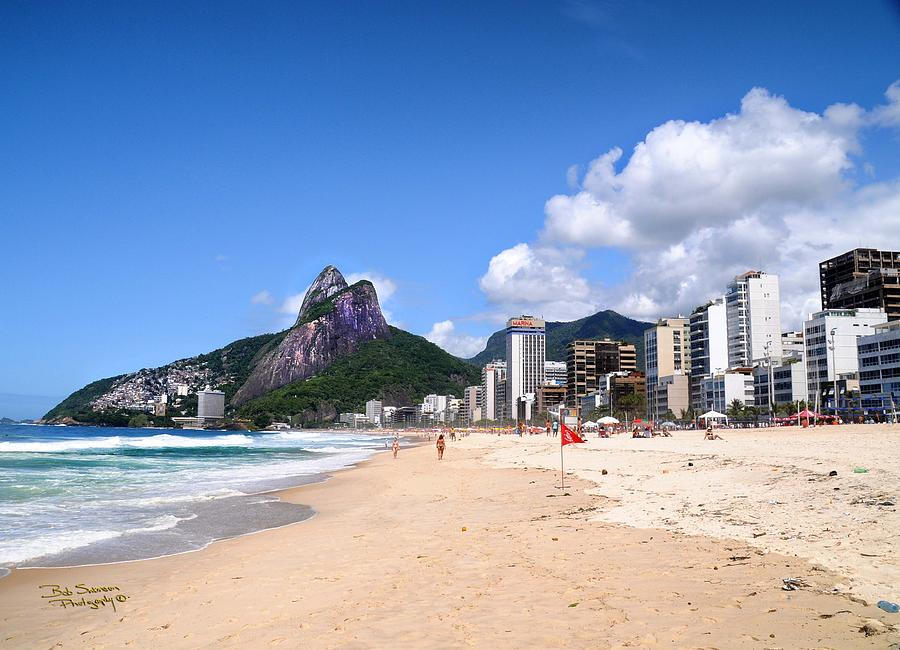Leblon Ipanema Beach Photograph  - Leblon Ipanema Beach Fine Art Print