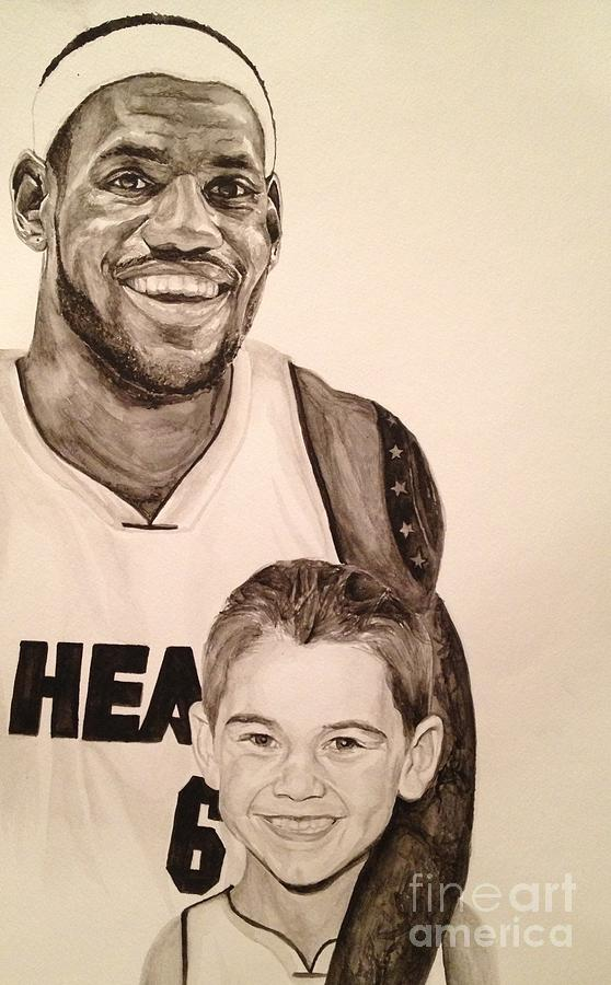 Lebron And Carter Painting