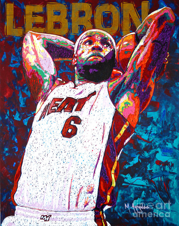 Lebron Dunk Painting
