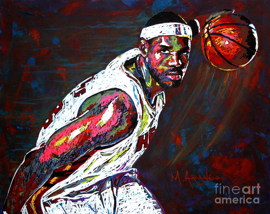 Lebron James 2 Painting  - Lebron James 2 Fine Art Print