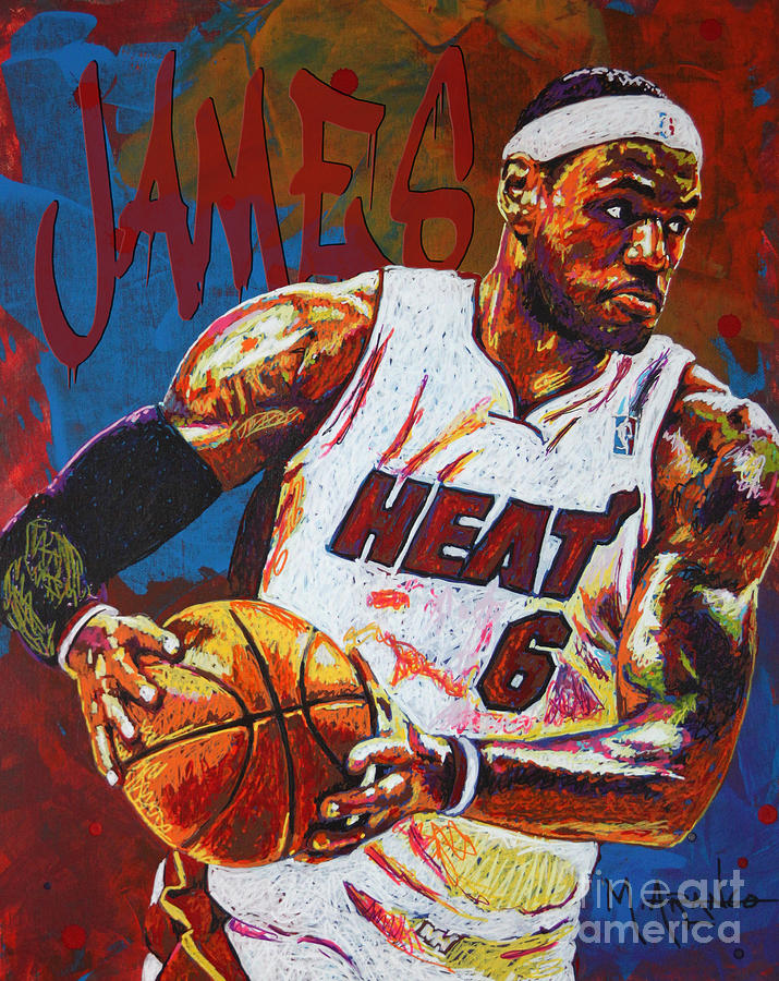 Lebron James 3 Painting