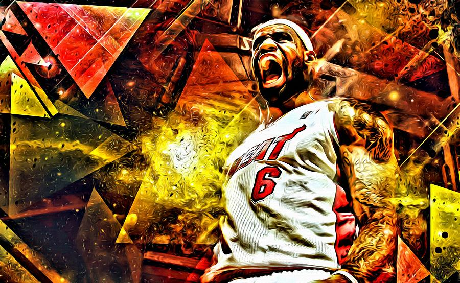 Lebron James Art Poster Painting