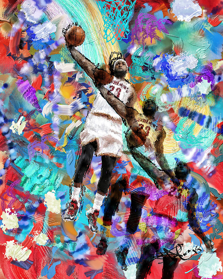 Lebron James Digital Art By Donald Pavlica