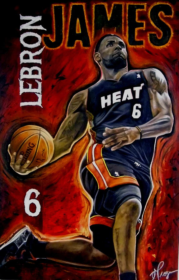 Lebron James Oil Painting-original Painting