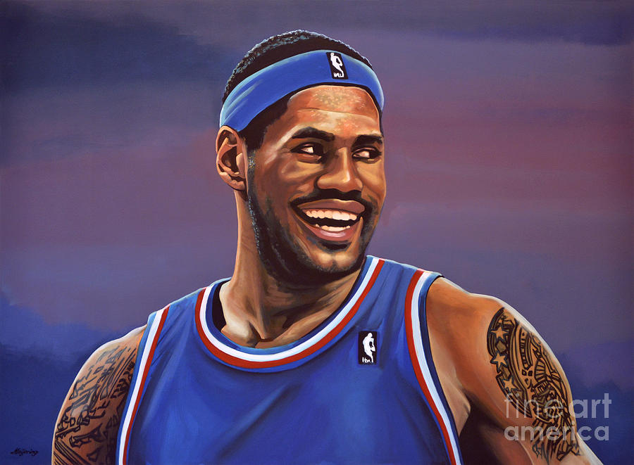 Lebron James Painting - Lebron James  by Paul Meijering