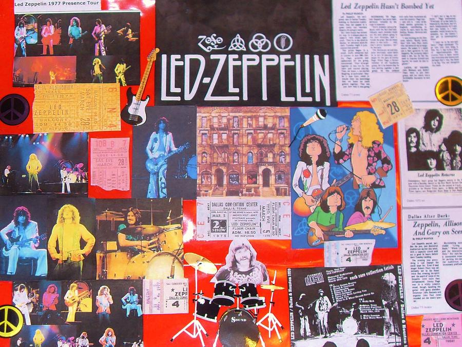 Led Zeppelin Collage Number One Photograph