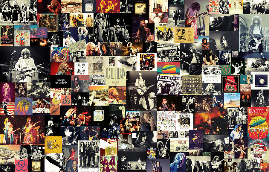 Led Zeppelin Collage Digital Art  - Led Zeppelin Collage Fine Art Print
