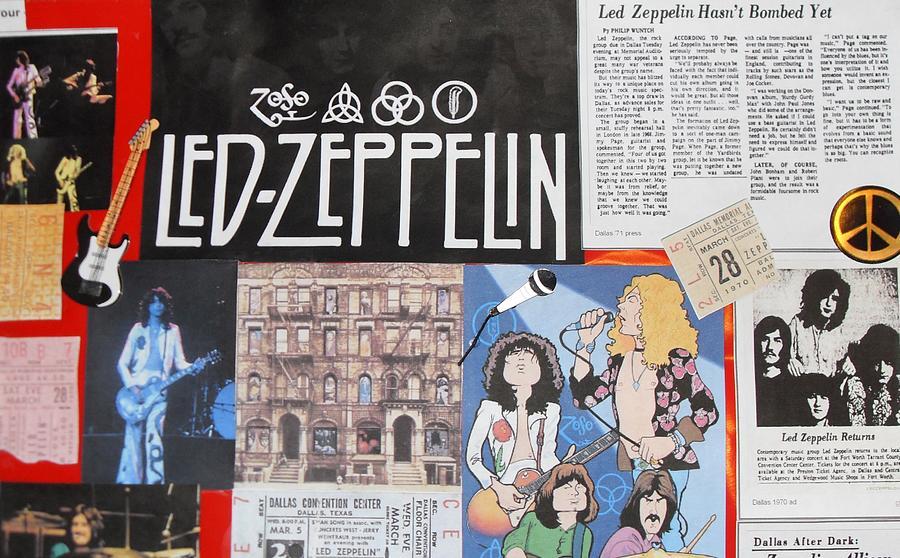 Led Zeppelin Past Times Photograph