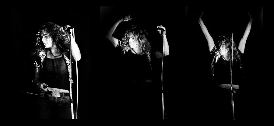 Led Zeppelin Robert Plant Triptych Photograph