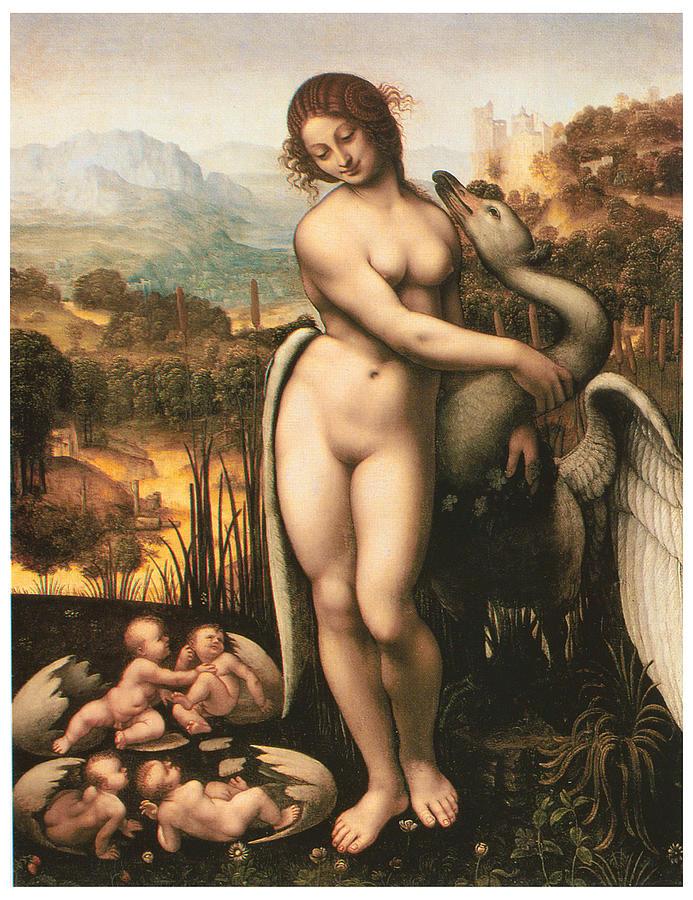 Cesare Da Sesto Painting - Leda And The Swan by Cesare Da Sesto