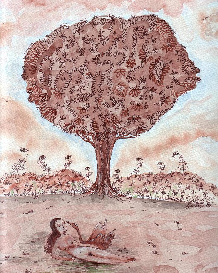 Leda And The Swan II Painting