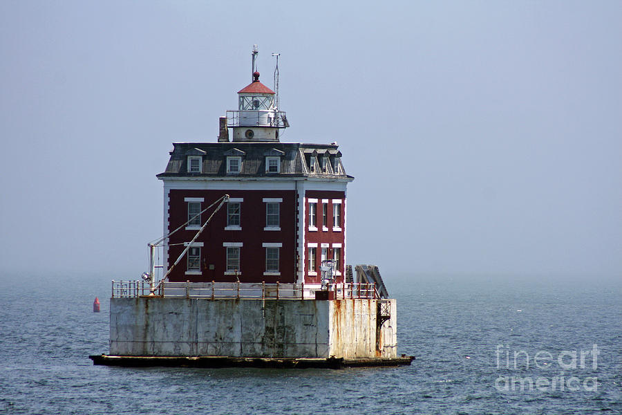Ledge Light - Connecticuts House In The River  Photograph