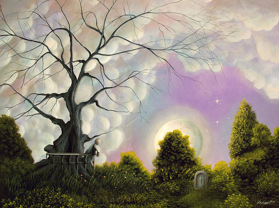Left Behind. Fantasy Landscape Fairytale Art By Philippe Fernandez Painting  - Left Behind. Fantasy Landscape Fairytale Art By Philippe Fernandez Fine Art Print