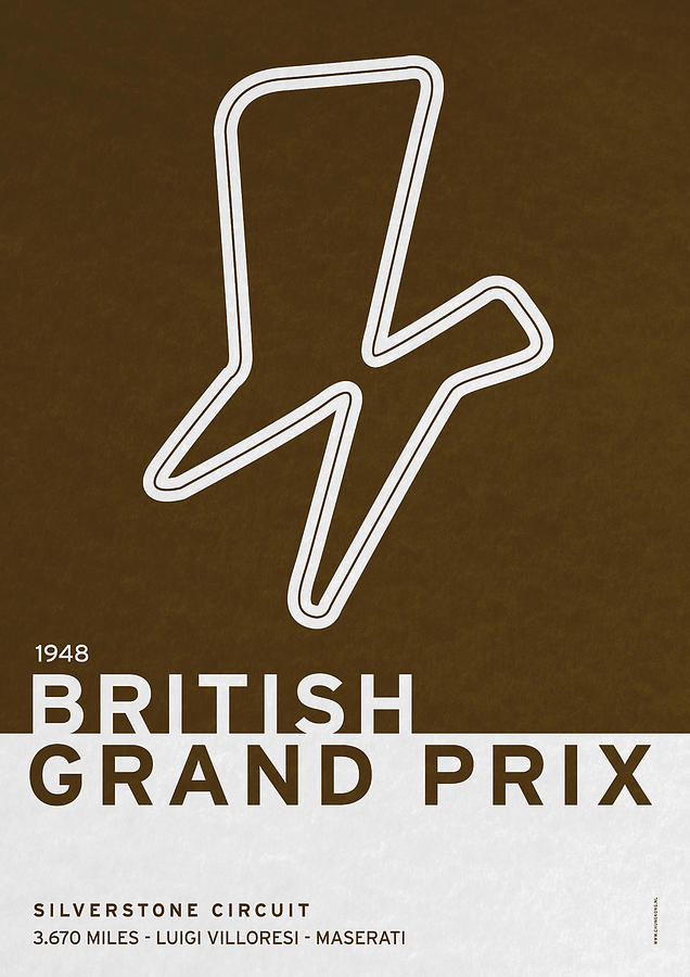F1 Digital Art - Legendary Races - 1948 British Grand Prix by Chungkong Art