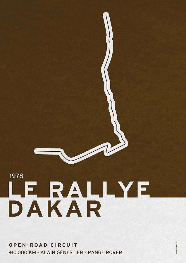 F1 Digital Art - Legendary Races - 1978 Le Rallye Dakar by Chungkong Art