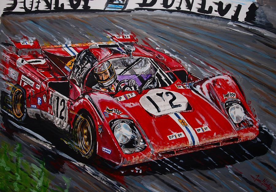 Legendary Tony Adamowicz In The Ferrari 512m Painting By