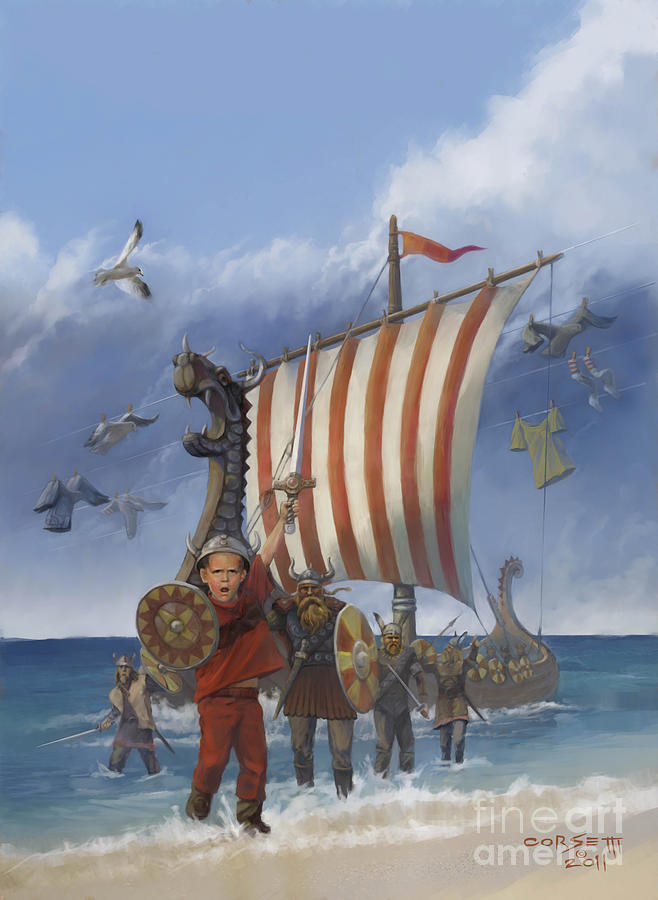 Legendary Viking Painting  - Legendary Viking Fine Art Print