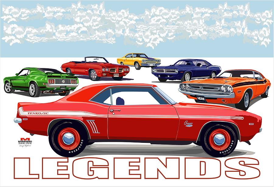 Legends Digital Art  - Legends Fine Art Print