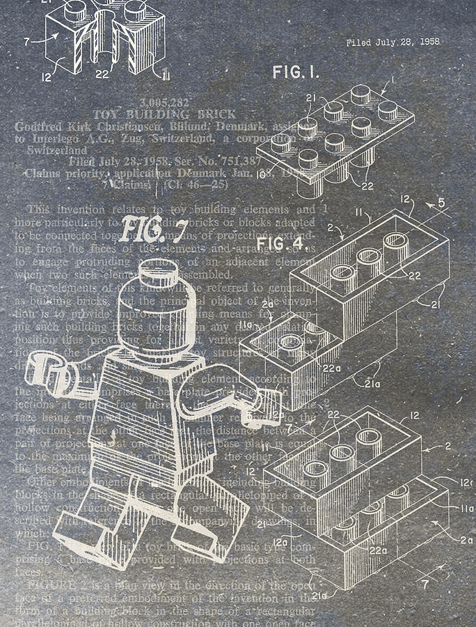Lego Patent Digital Art