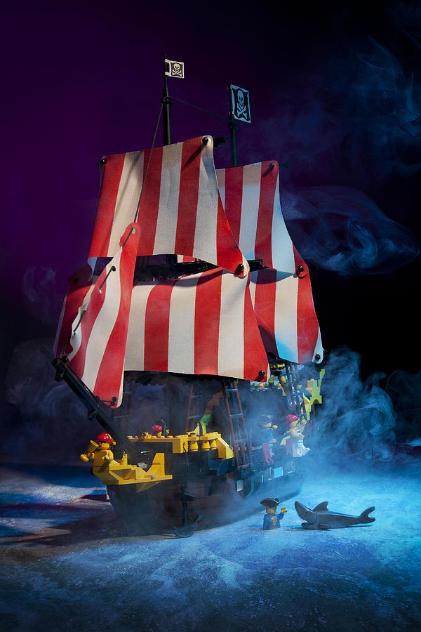 Pirate Ship Photograph - Lego Pirate Ship by Samuel Whitton