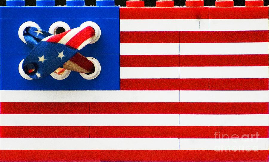 Legos American Flag Digital Art