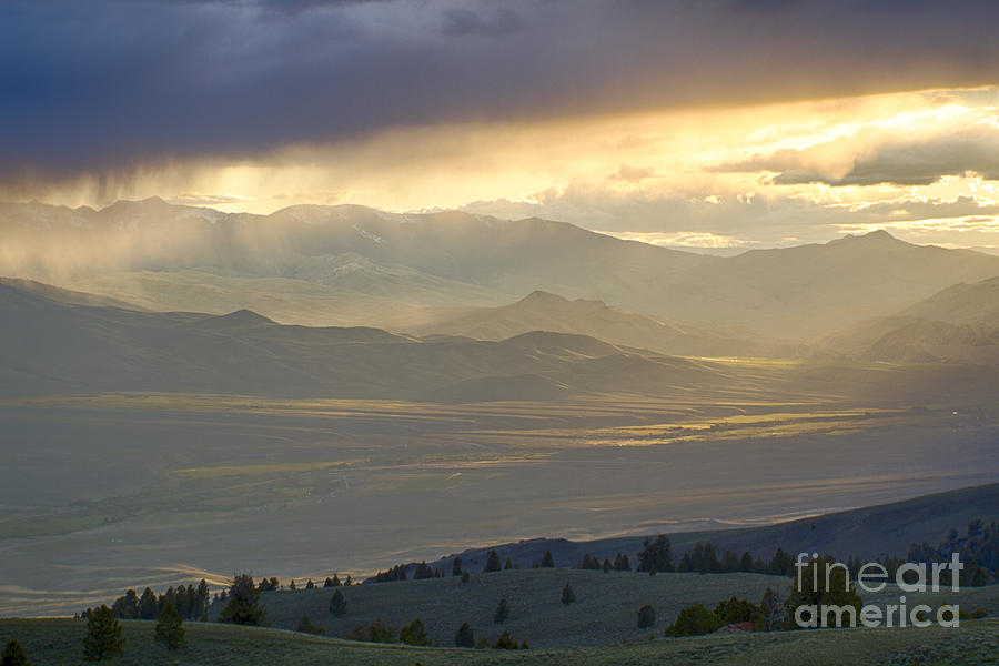 Lemhi Valley Light Photograph  - Lemhi Valley Light Fine Art Print
