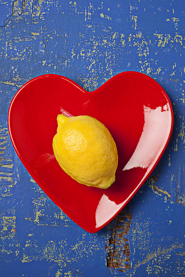 Lemon Heart Photograph