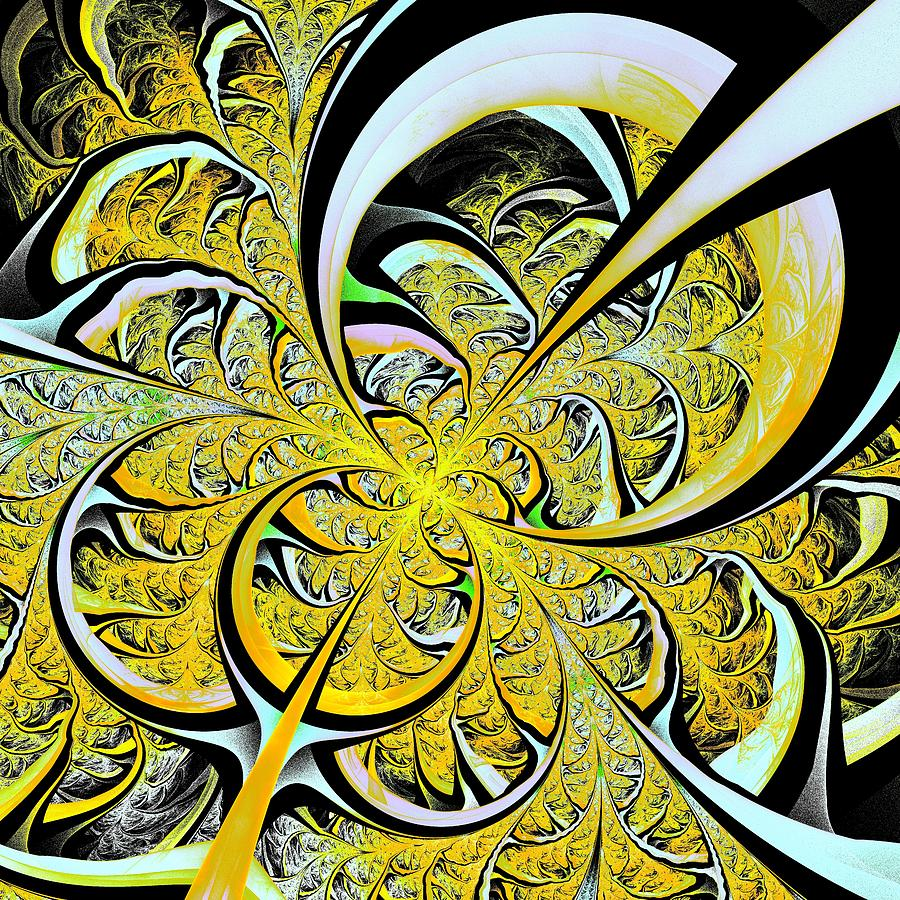 Lemon Twist Digital Art  - Lemon Twist Fine Art Print