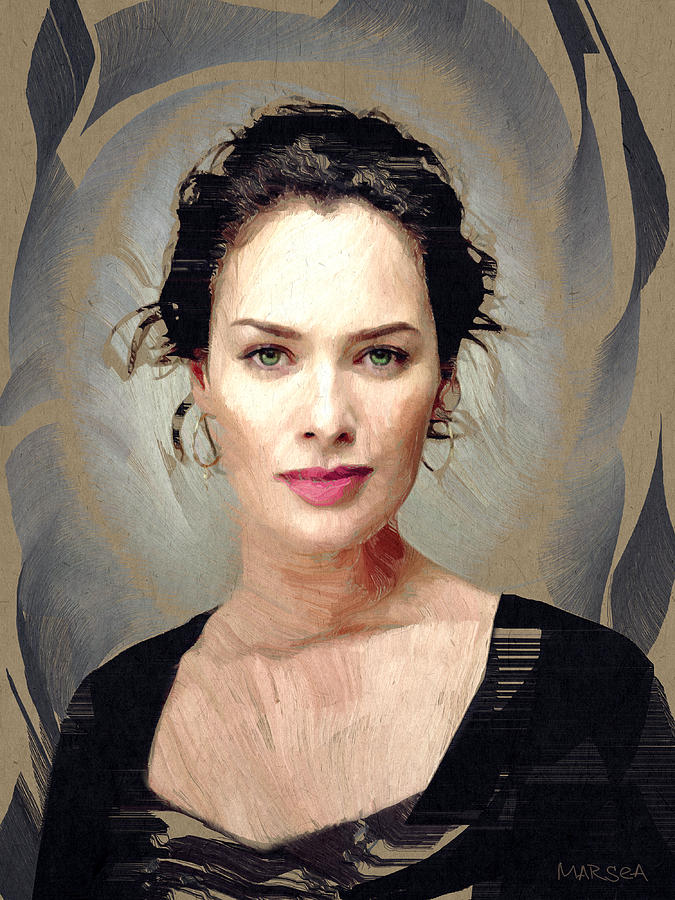 Lena Headey Painting  - Lena Headey Fine Art Print