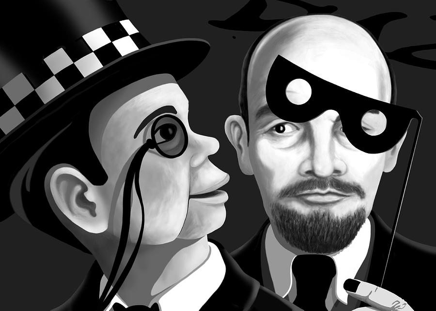 Dkzn Digital Art - Lenin And Mccarthy   by Tom Dickson
