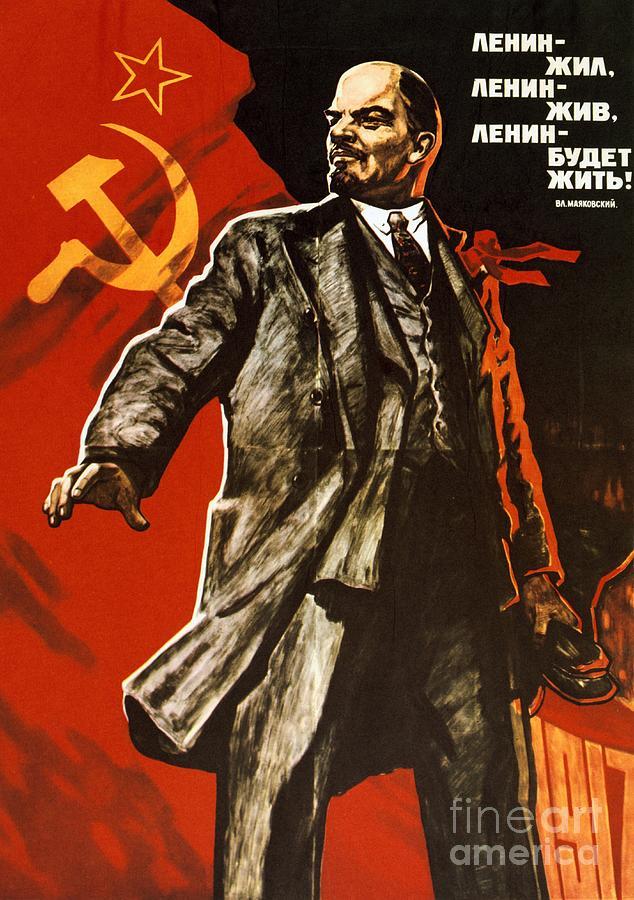 Lenin Art - Lenin lived Lenin  Lenin