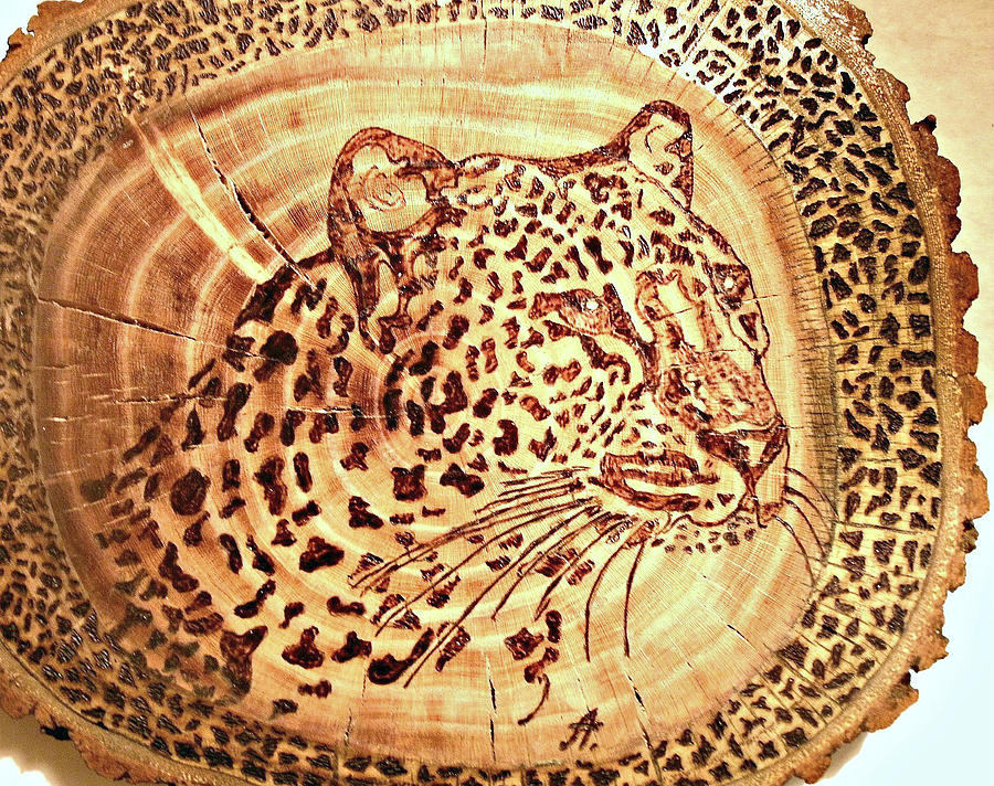 Leopard Pyrography
