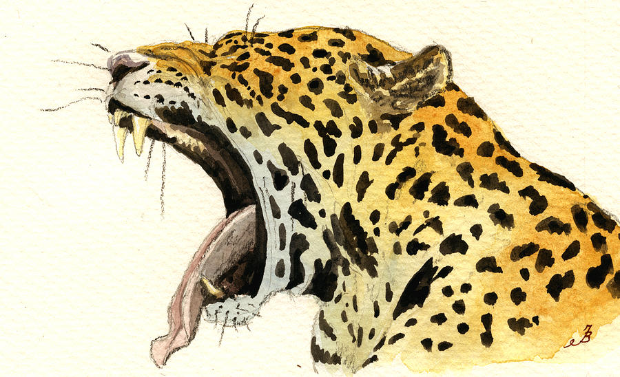 Leopard Head Painting