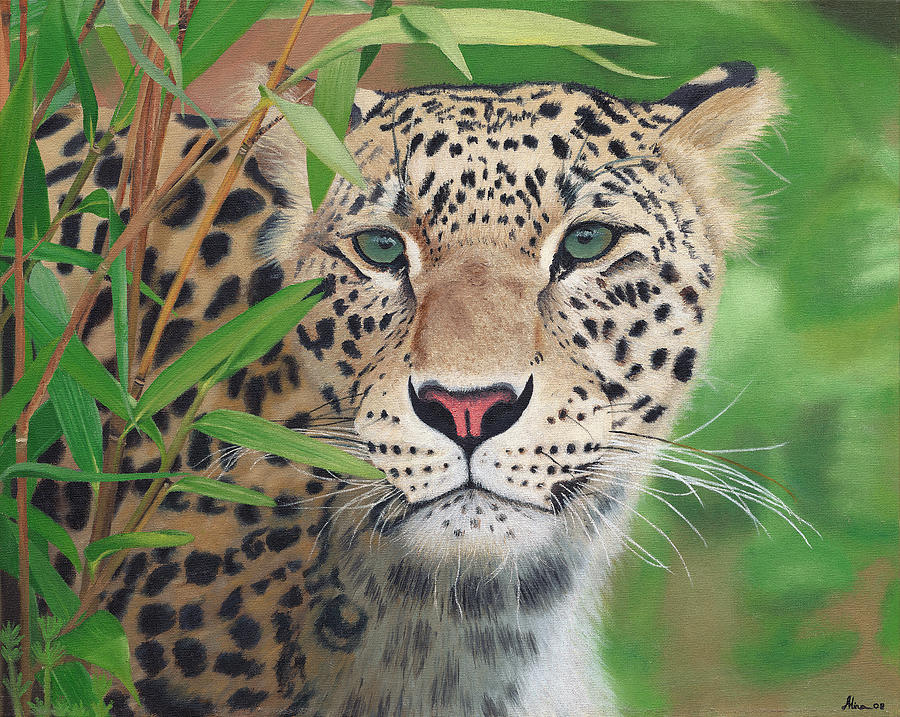 Leopard In The Woods Painting