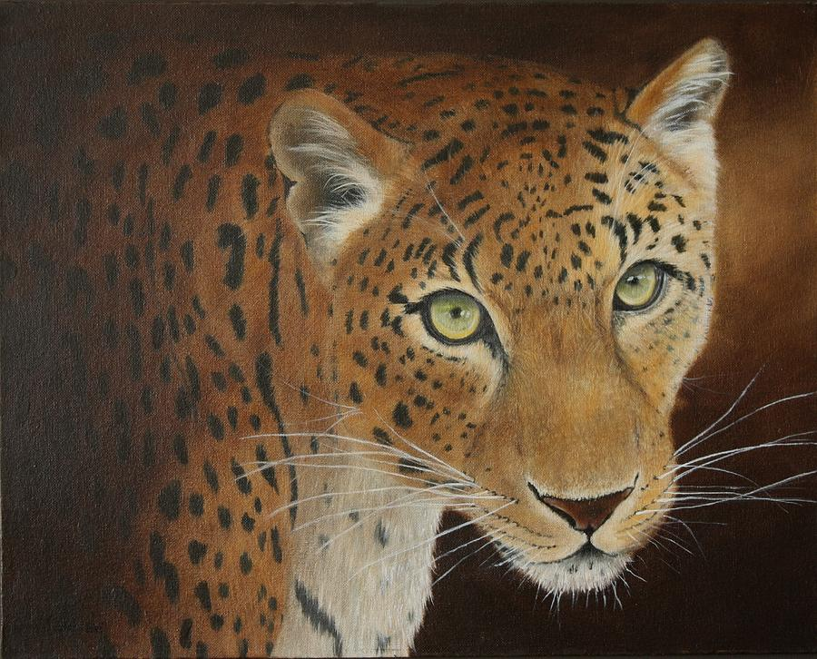Leopard.. Out Of The Dark Painting  - Leopard.. Out Of The Dark Fine Art Print