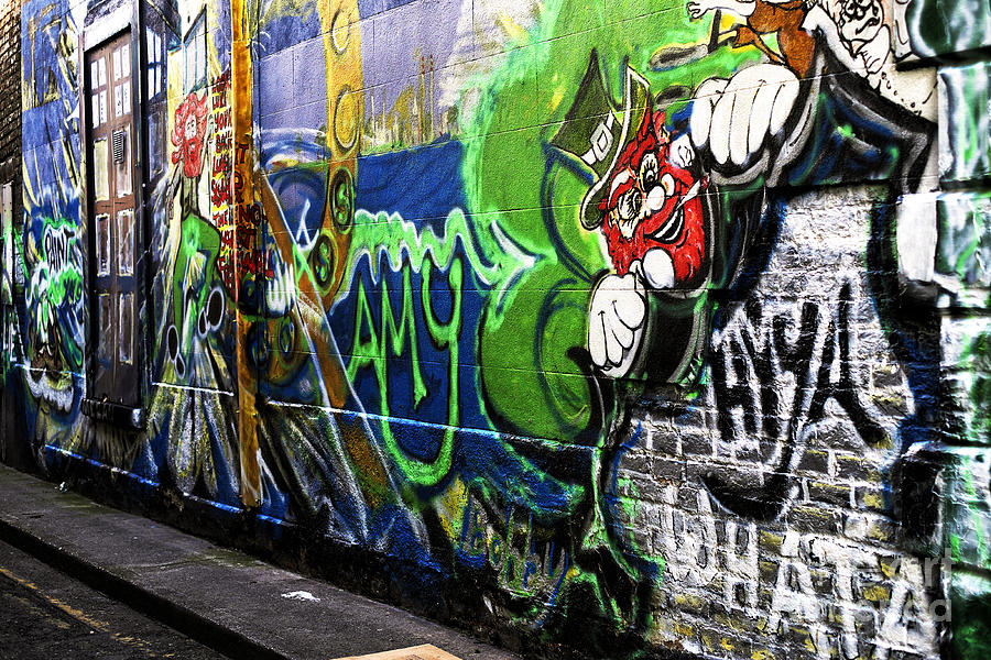 Leprechaun Graffiti Photograph  - Leprechaun Graffiti Fine Art Print
