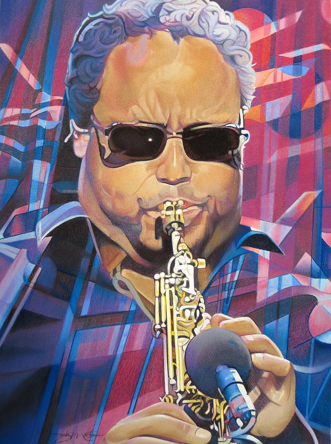 Leroi Moore And 2007 Lights Drawing  - Leroi Moore And 2007 Lights Fine Art Print