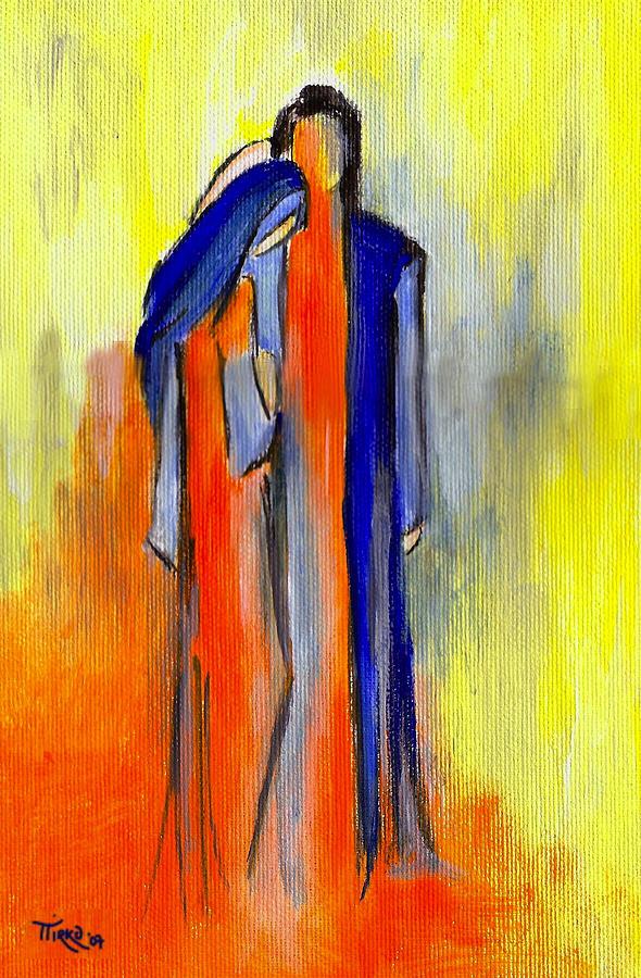 Les Amoureux Painting
