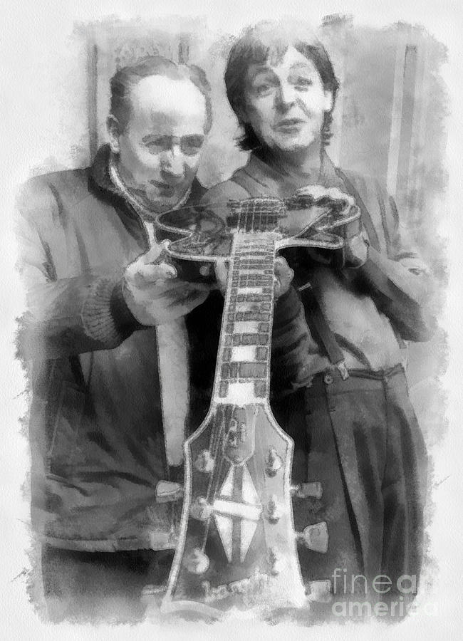 Les And Paul Digital Art  - Les And Paul Fine Art Print