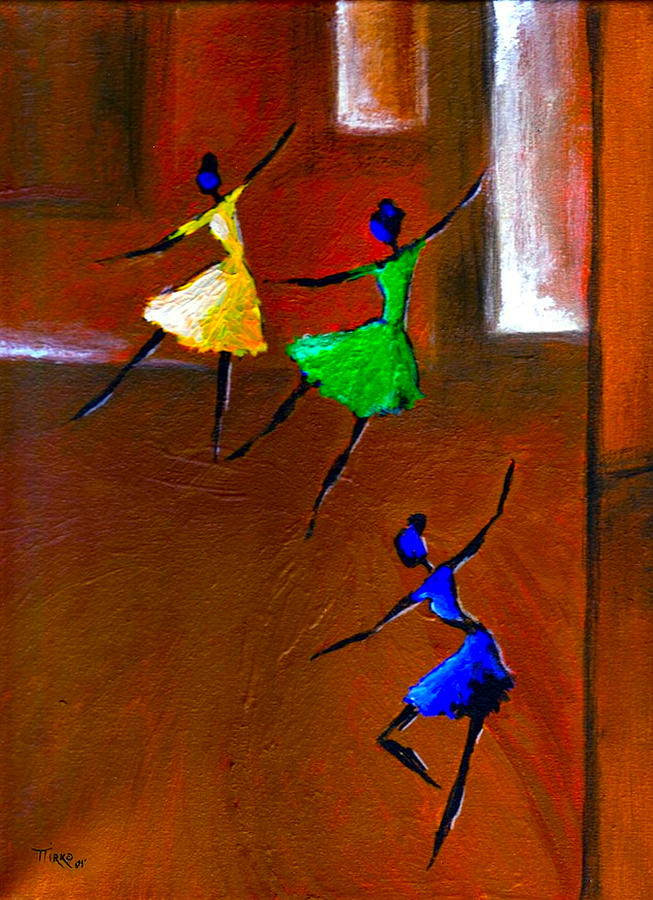 Les Ballerines Painting