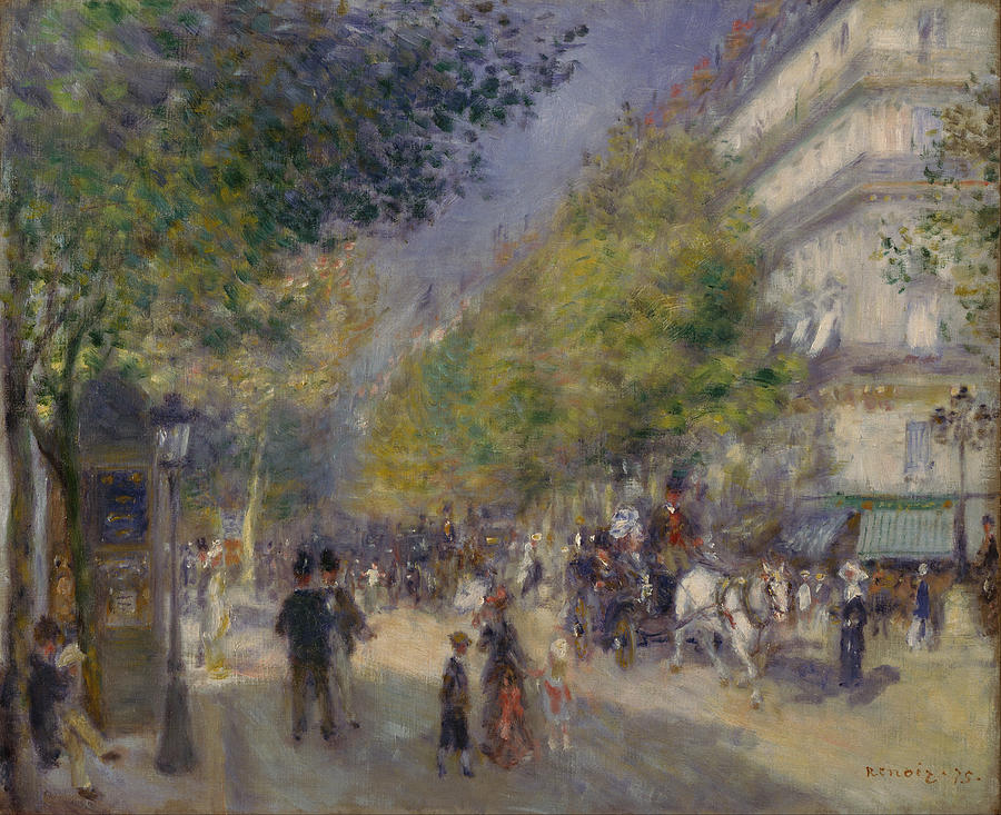 Les Grands Boulevards Painting  - Les Grands Boulevards Fine Art Print