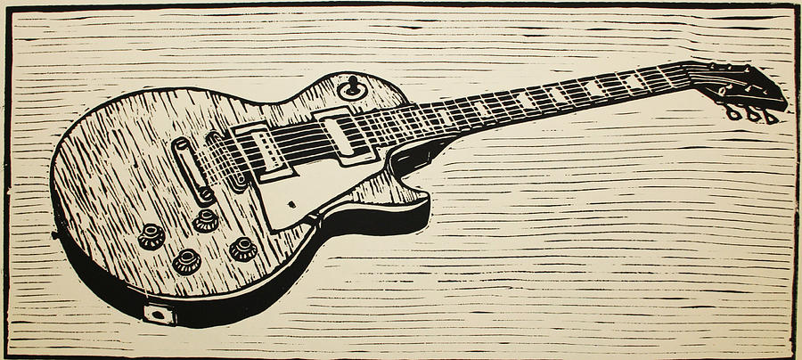 Les Paul Drawing  - Les Paul Fine Art Print