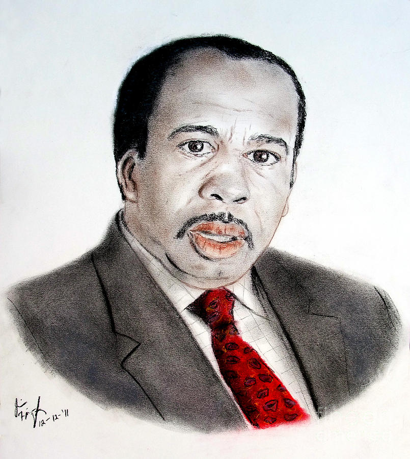 Stanley Hudson On The Office Drawing - Leslie David Baker As Stanley Hudson On The Office  by Jim Fitzpatrick