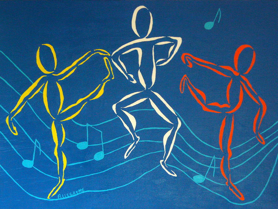 Lets Dance Painting  - Lets Dance Fine Art Print